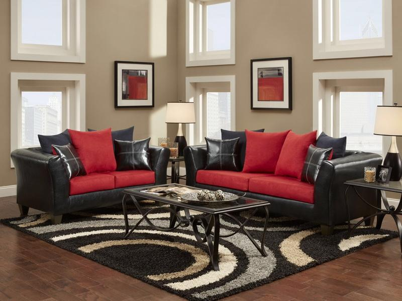 Red And Black Sofa Cushions