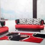 : red and black sofa for sale
