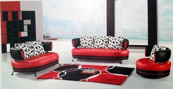 Red And Black Sofa For Sale