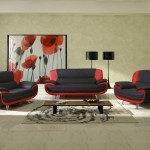: red and black sofa set designs