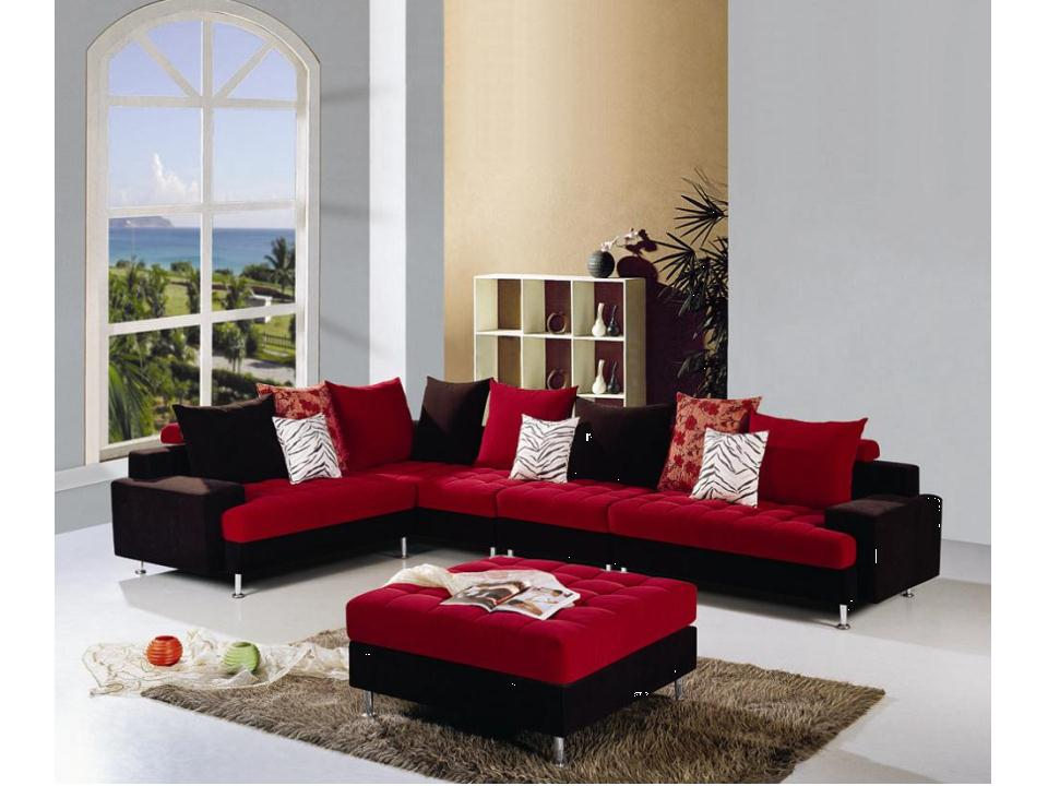 Red sofa set black and red sofa set black and red sofa for Cheap black couch set