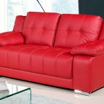: red couch loveseat
