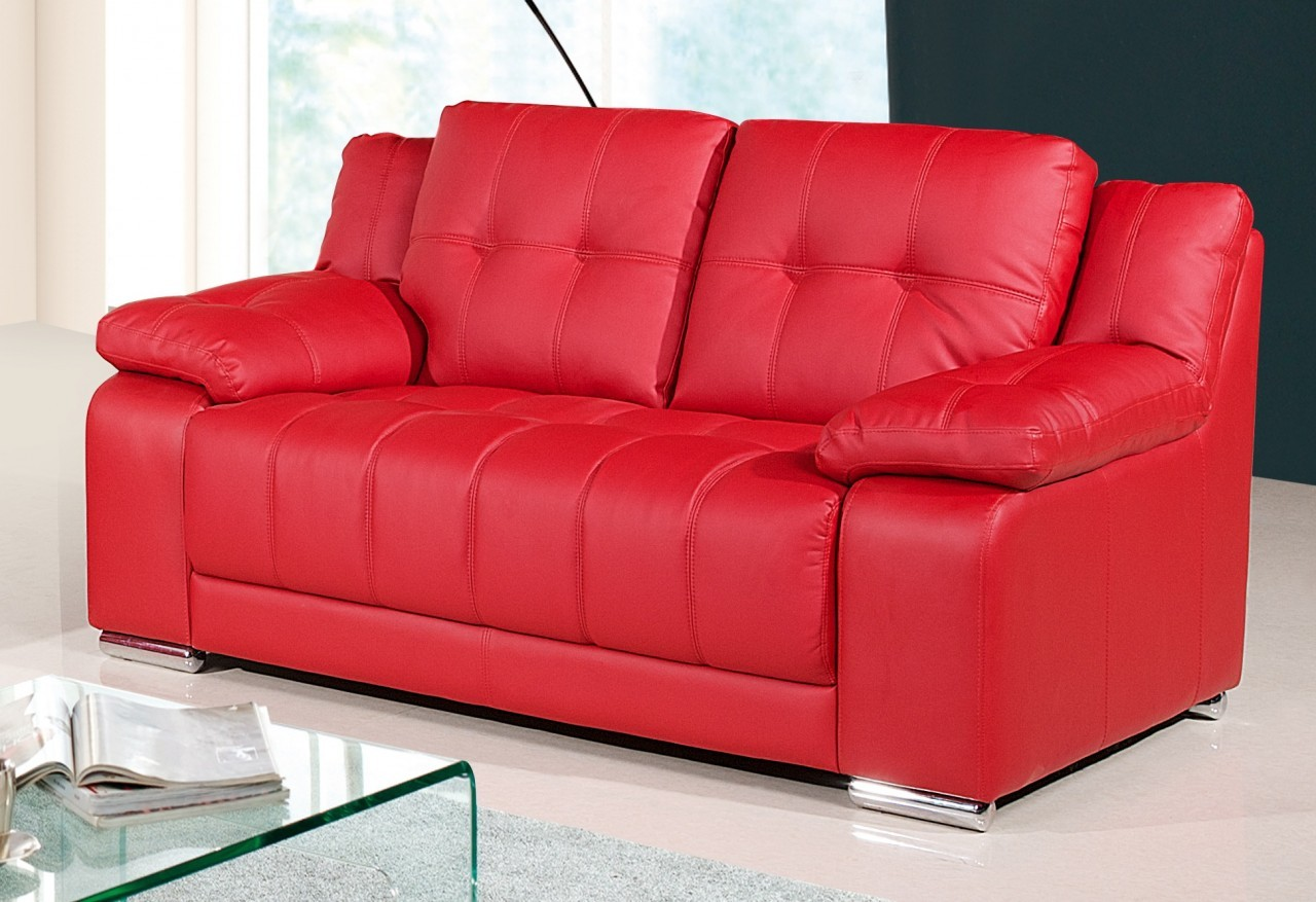 Red Couch Loveseat