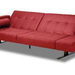 : red leather couch loveseat