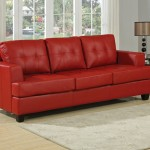 : red leather couch sofa bed