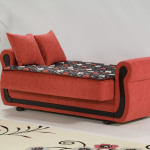 : red loveseat sofa bed
