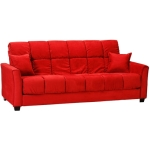 : red sofa bed couch