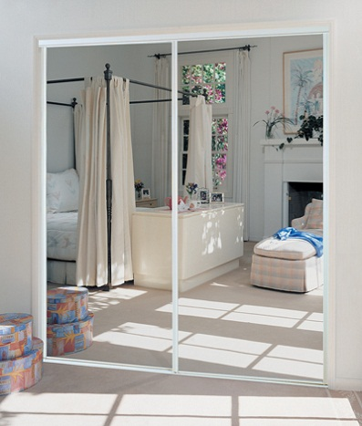 remove sliding mirror closet doors