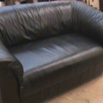 : restore worn leather sofa