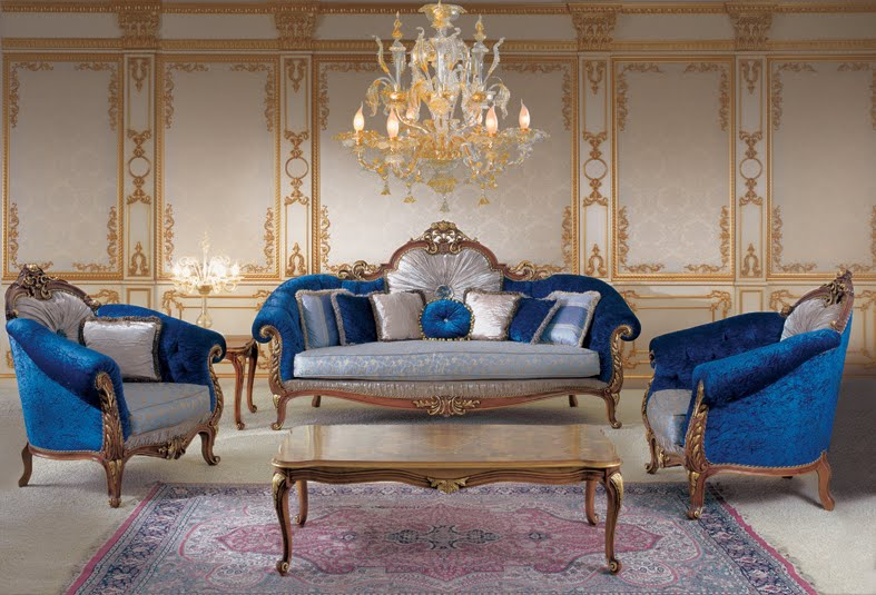 Royal Blue Couch For Sale