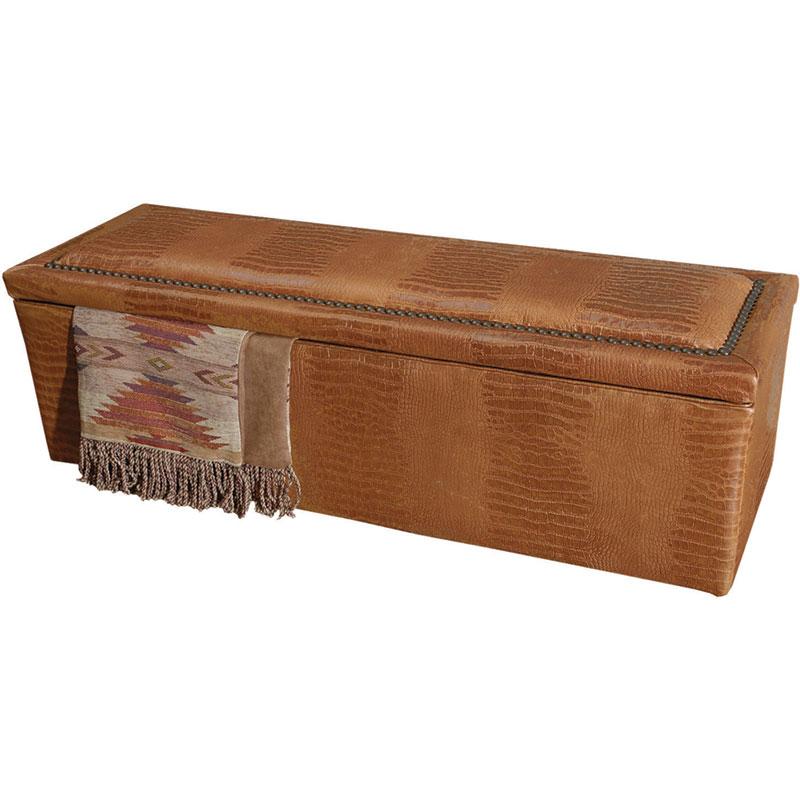 rustic bedroom storage bench