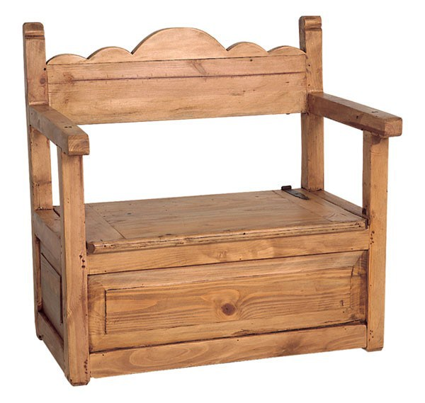 rustic bench seat with storage