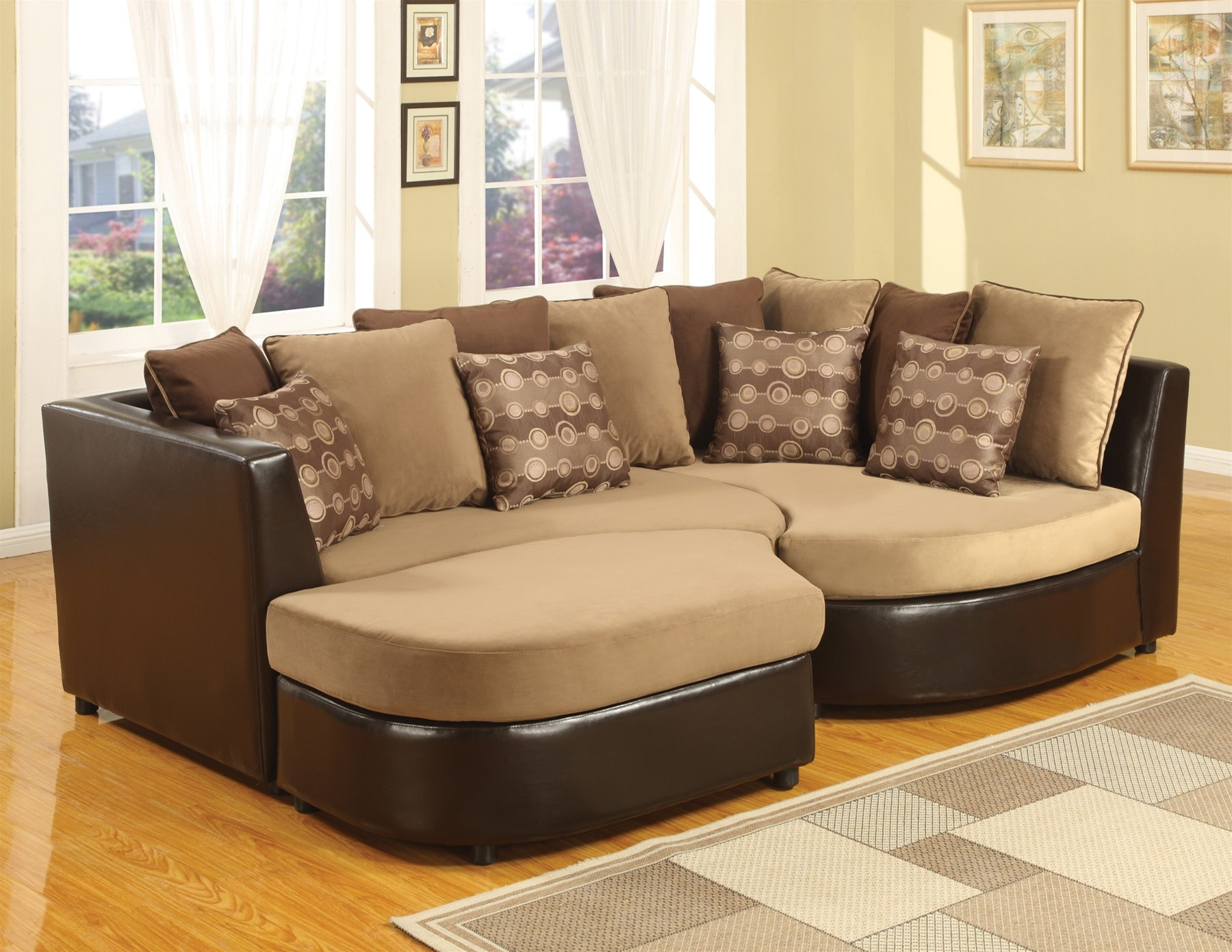 Moon pit sofa couch sofa ideas interior design for Choosing furniture for a small living room