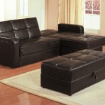 : sectional sleeper sofa with storage and pillows
