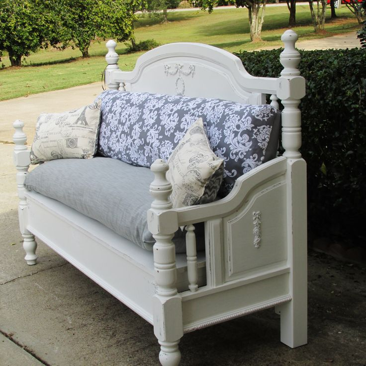 shabby chic bench cushion