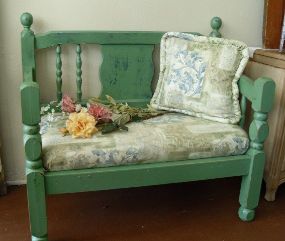shabby chic bench seat