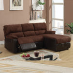 : small l shaped sofa with recliner