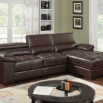 : small leather l couch
