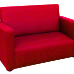 : small red couch for sale