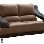 : tan leather couch and loveseat
