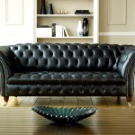 : used black leather couch and loveseat