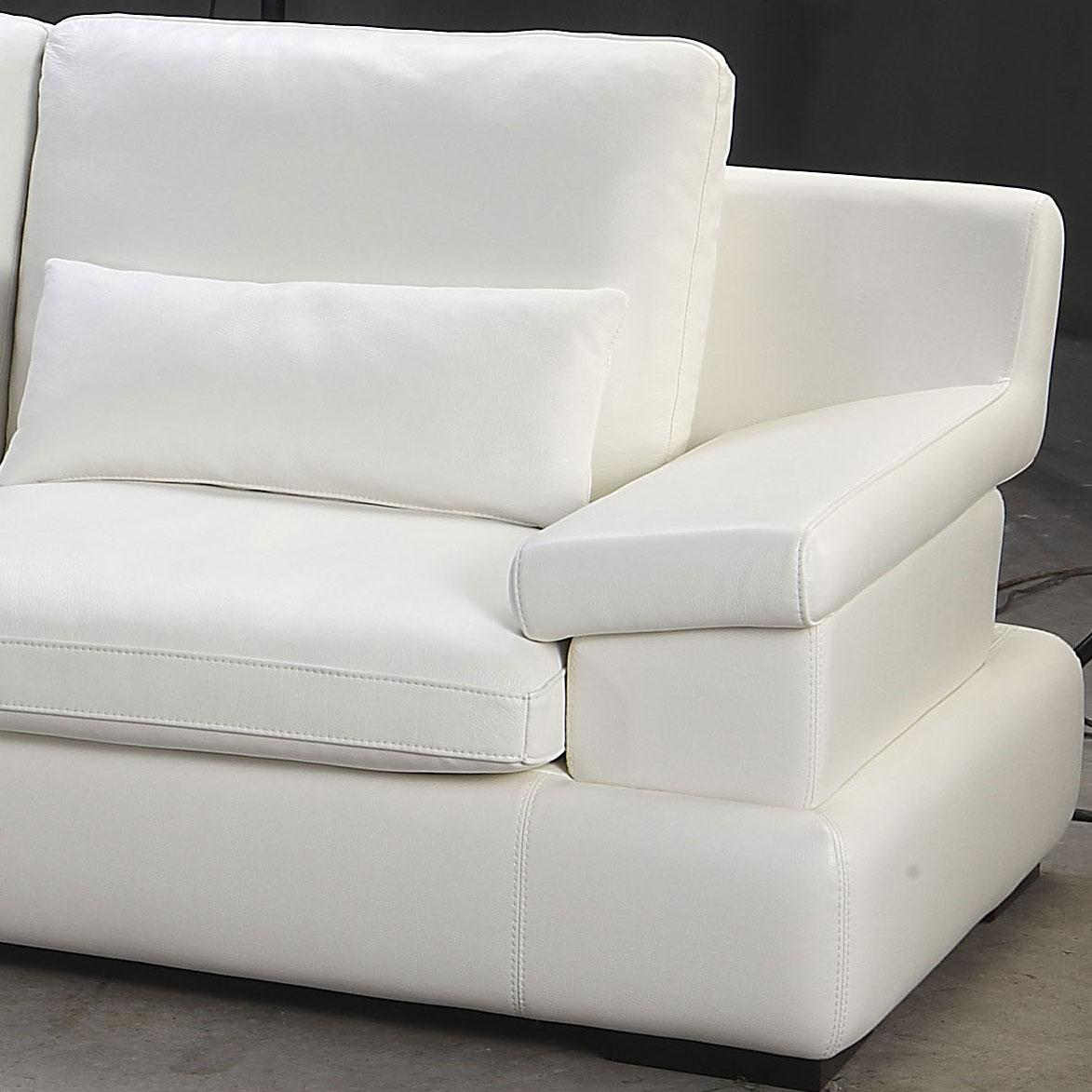 White Leather Couch And Loveseat
