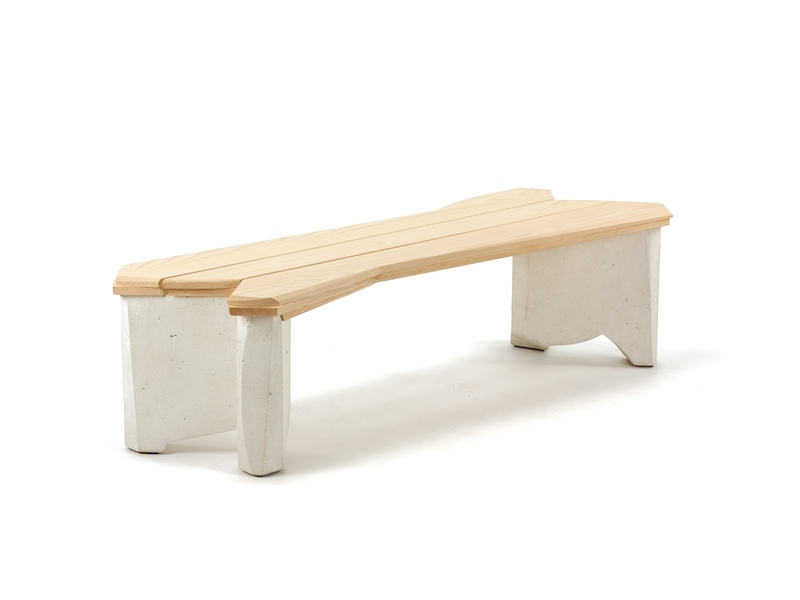 white wood entry bench