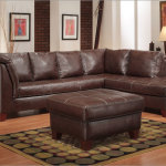: wide leather couch