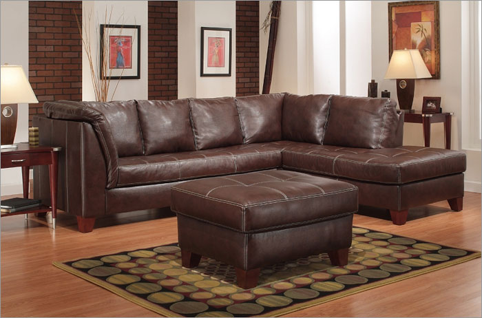 Wide Leather Couch