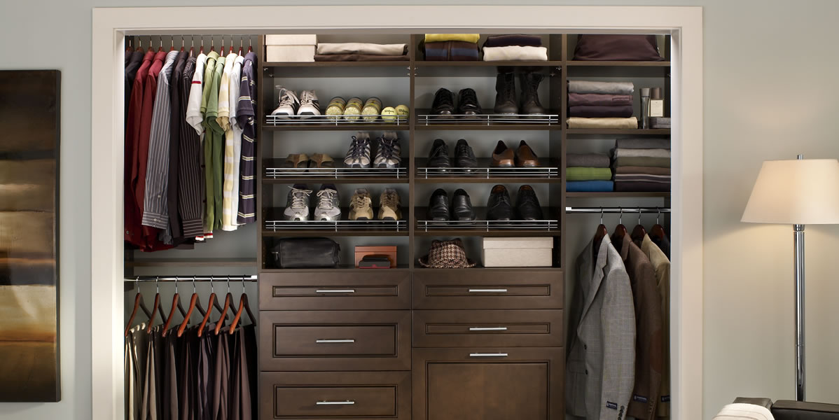 wood closet organizer shelves