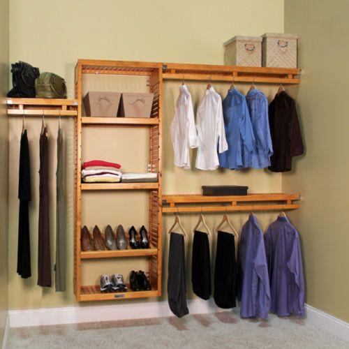 wood closet organizers on sale