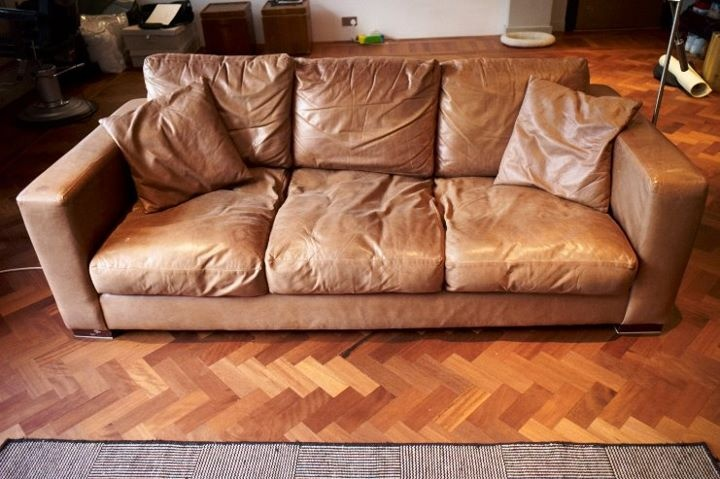 Worn Leather Couches