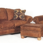: worn leather furniture