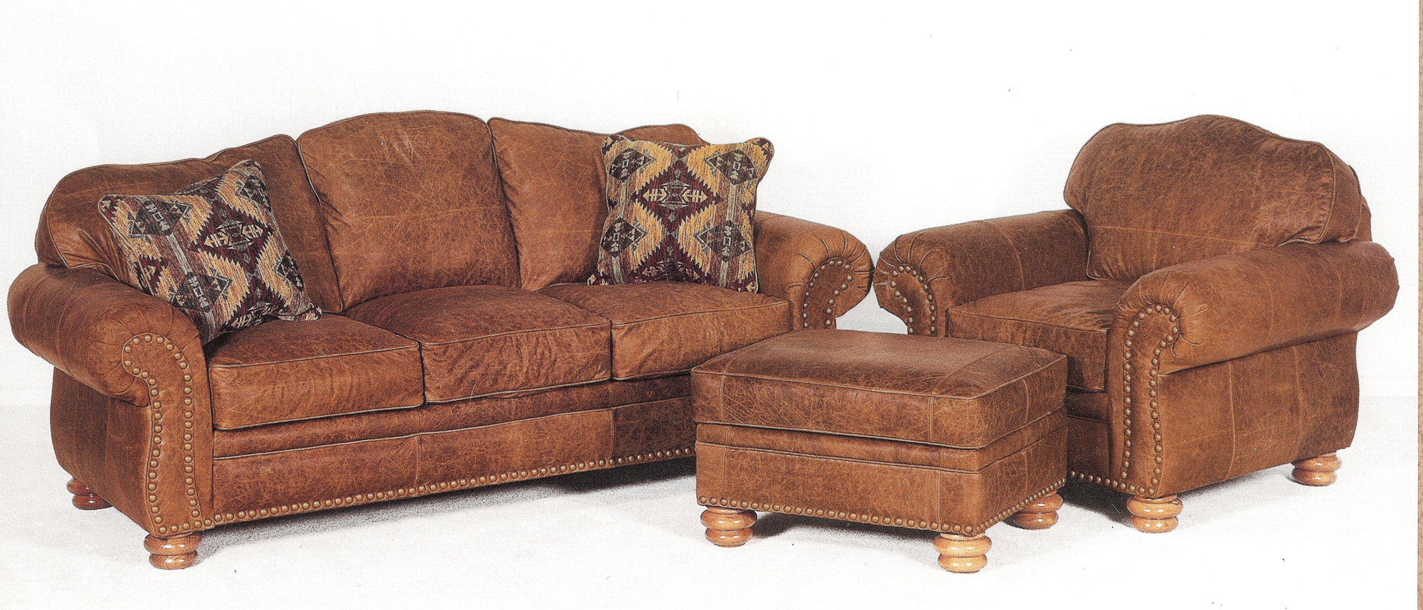 Distressed leather sofa with chaise couch sofa ideas for Furniture leather sofa