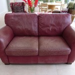 : worn leather sofa repair