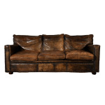 : worn leather sofas for sale