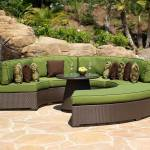 : wrap around outdoor couch