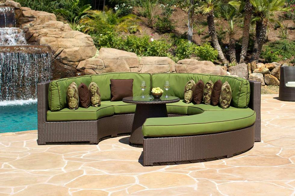 Wrap Around Outdoor Couch