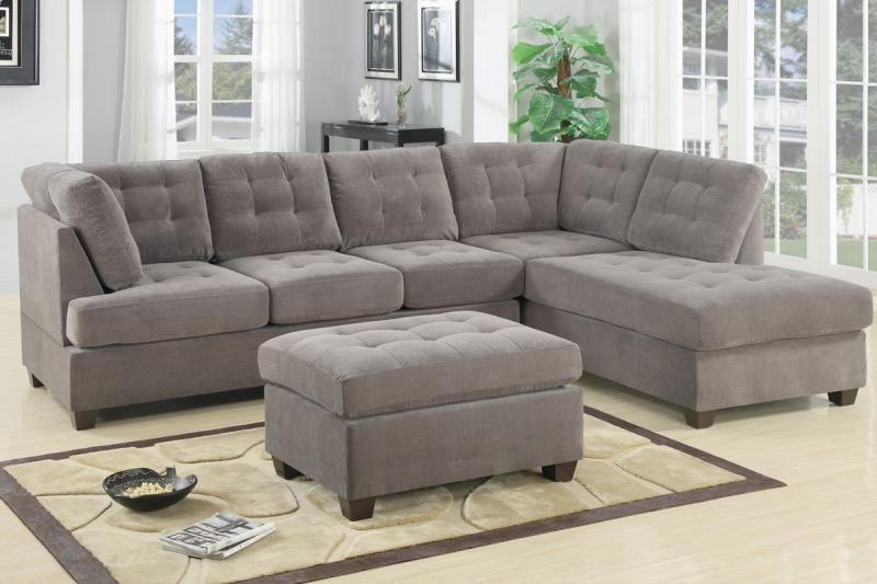 Wrap Around Suede Couch