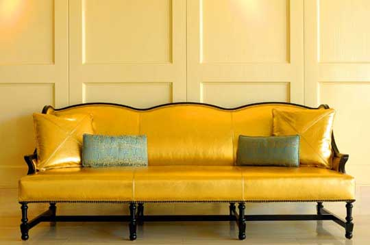 Yellow Leather Sofa On Sale