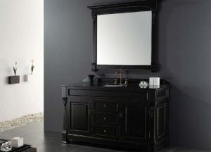 60 inch black bathroom vanity