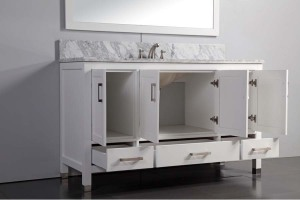 60 inch white bathroom vanity single sink