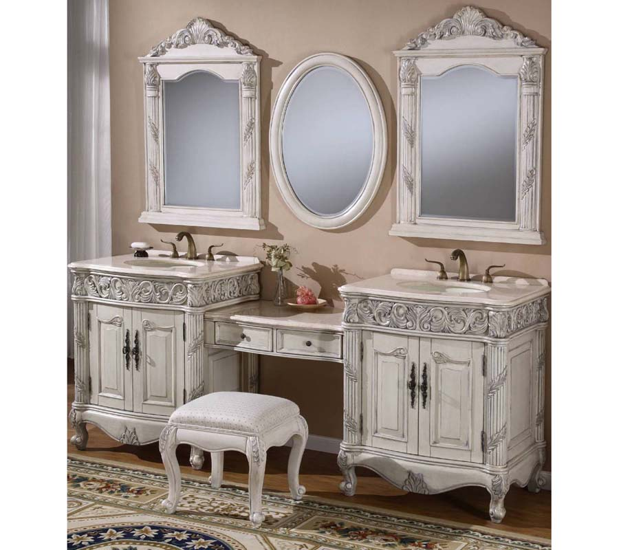 80 inch double sink bathroom vanity