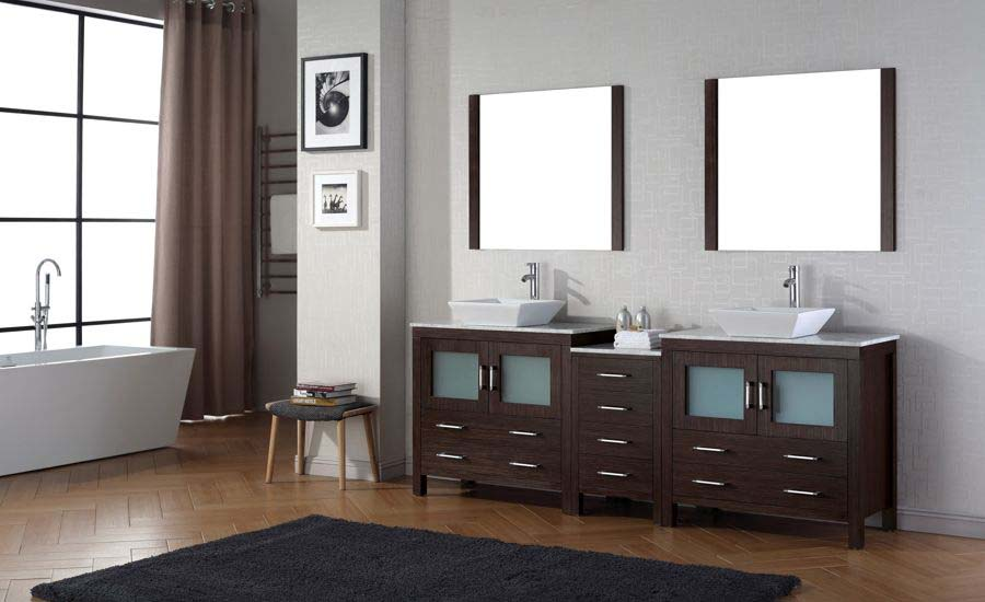 90 double sink bathroom vanity