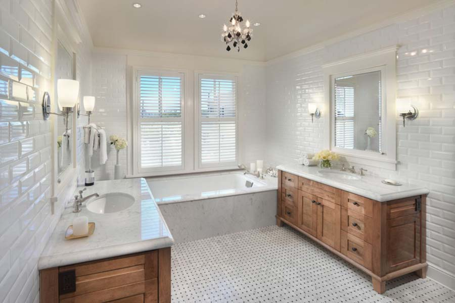 All wood bathroom vanities