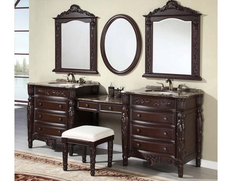 Antique bathroom vanity set