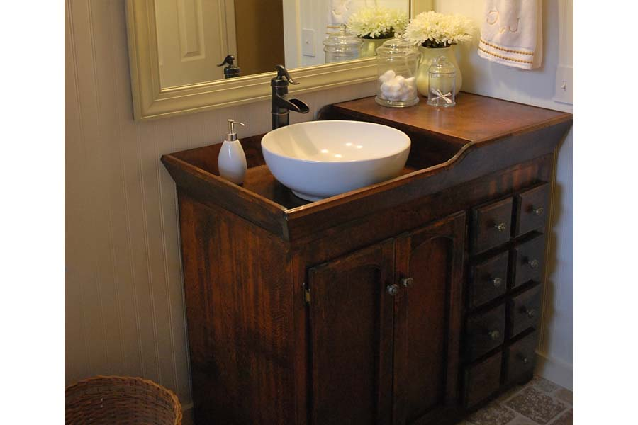 Antique bathroom vanity sink