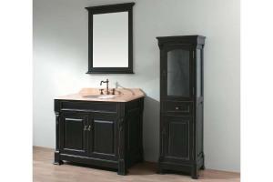 Antique black bathroom vanity