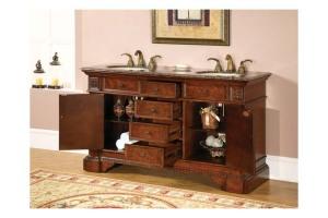 Antique dresser as bathroom vanity