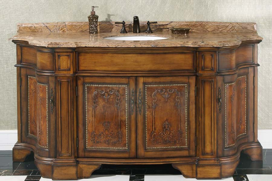 Antique oak bathroom vanity